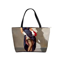 Retro Pin-up Girl Large Shoulder Bag by PinUpGallery