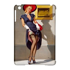 Retro Pin Up Girl Apple Ipad Mini Hardshell Case (compatible With Smart Cover) by PinUpGallery