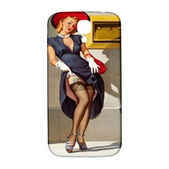 Retro Pin Up Girl Samsung Galaxy S4 I9500/i9505  Hardshell Back Case by PinUpGallery