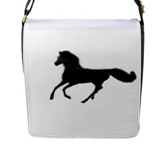 Running Horse Flap Closure Messenger Bag (large) by mysticalimages