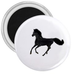 Running Horse 3  Button Magnet
