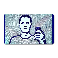 Snapshot Blue Magnet (rectangular) by JacklyneMae
