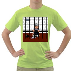 Baby In The Jail Mens  T Shirt (green)