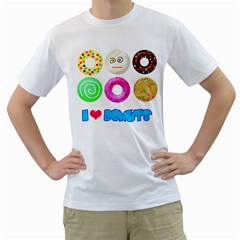 I Heart Donuts Mens  T-shirt (white) by Contest1632326