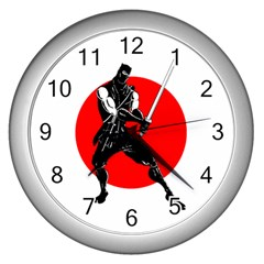Ninja Wall Clock (silver) by Contest1714212