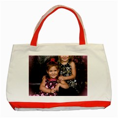 Candence And Abbey   Copy Classic Tote Bag (red) by tammystotesandtreasures