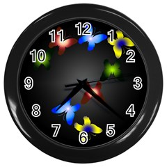Butterfly Trail Wall Clock (black) by Contest1553012