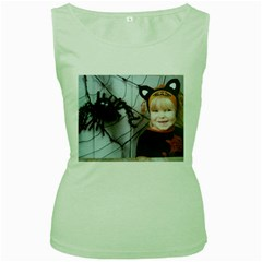 Spider Baby Womens  Tank Top (green) by tammystotesandtreasures