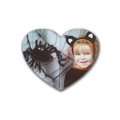 Spider Baby Drink Coasters (heart) by tammystotesandtreasures