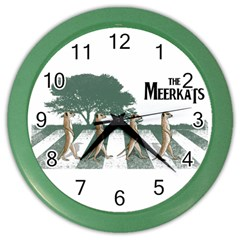 The Meerkats Wall Clock (color) by Contest1732250