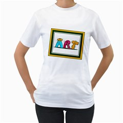 Sick Art Womens  T Shirt (white)