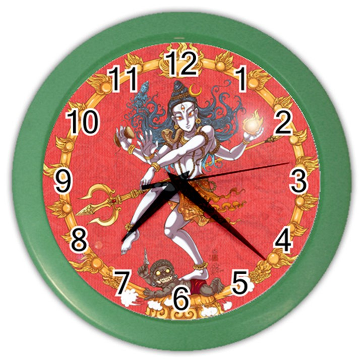 Shiva Wall Clock (Color)