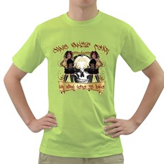 Chaos Panic Fear Our Work Here Is Done Mens  T Shirt (green)