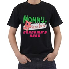 Mommy Your Fired Grandmas Here Mens' Two Sided T Shirt (black)