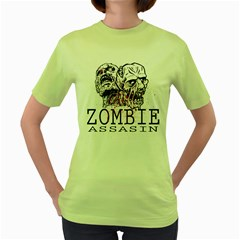 Zombie Assasin Womens  T Shirt (green)