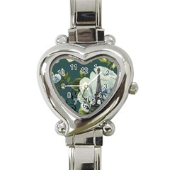 Blue Roses Vintage Paris Eiffel Tower Floral Fashion Decor Heart Italian Charm Watch