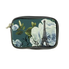 Blue Roses Vintage Paris Eiffel Tower Floral Fashion Decor Coin Purse by chicelegantboutique