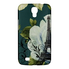 Blue Roses Vintage Paris Eiffel Tower Floral Fashion Decor Samsung Galaxy Mega 6 3  I9200 by chicelegantboutique