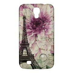 Purple Floral Vintage Paris Eiffel Tower Art Samsung Galaxy Mega 6 3  I9200 by chicelegantboutique