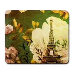 Floral Eiffel Tower Vintage French Paris Large Mouse Pad (rectangle)
