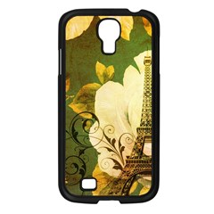Floral Eiffel Tower Vintage French Paris Samsung Galaxy S4 I9500/ I9505 (black) by chicelegantboutique