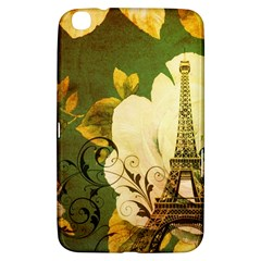 Floral Eiffel Tower Vintage French Paris Samsung Galaxy Tab 3 (8 ) T3100 Hardshell Case