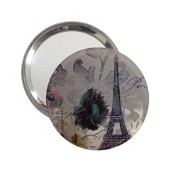 Floral Vintage Paris Eiffel Tower Art Handbag Mirror (2 25 ) by chicelegantboutique