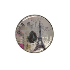 Floral Vintage Paris Eiffel Tower Art Golf Ball Marker (for Hat Clip) by chicelegantboutique
