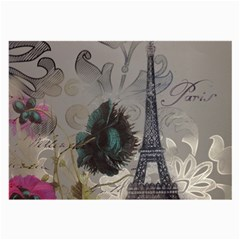 Floral Vintage Paris Eiffel Tower Art Glasses Cloth (large) by chicelegantboutique