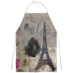 Floral Vintage Paris Eiffel Tower Art Apron by chicelegantboutique