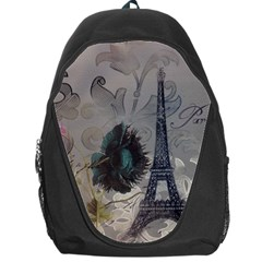 Floral Vintage Paris Eiffel Tower Art Backpack Bag by chicelegantboutique