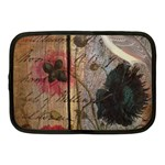 Vintage Bird Poppy Flower Botanical Art Netbook Case (Medium) Front