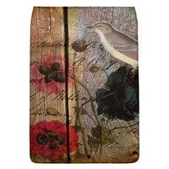 Vintage Bird Poppy Flower Botanical Art Removable Flap Cover (small)