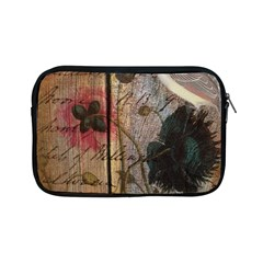 Vintage Bird Poppy Flower Botanical Art Apple Ipad Mini Zipper Case