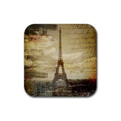 Elegant Vintage Paris Eiffel Tower Art Drink Coasters 4 Pack (square)