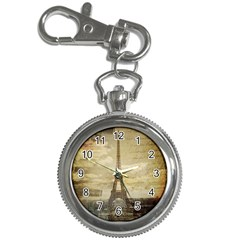 Elegant Vintage Paris Eiffel Tower Art Key Chain & Watch by chicelegantboutique