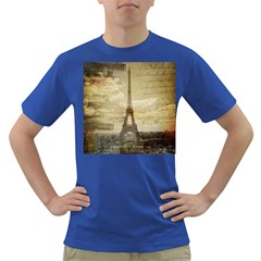 Elegant Vintage Paris Eiffel Tower Art Mens' T-shirt (colored) by chicelegantboutique