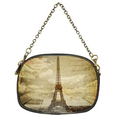 Elegant Vintage Paris Eiffel Tower Art Chain Purse (one Side)