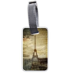 Elegant Vintage Paris Eiffel Tower Art Luggage Tag (one Side) by chicelegantboutique