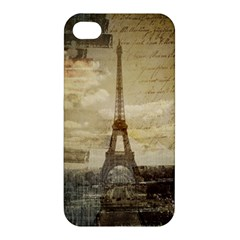 Elegant Vintage Paris Eiffel Tower Art Apple Iphone 4/4s Premium Hardshell Case