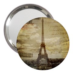 Elegant Vintage Paris Eiffel Tower Art 3  Handbag Mirror by chicelegantboutique