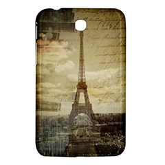 Elegant Vintage Paris Eiffel Tower Art Samsung Galaxy Tab 3 (7 ) P3200 Hardshell Case