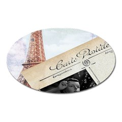 French Postcard Vintage Paris Eiffel Tower Magnet (oval) by chicelegantboutique