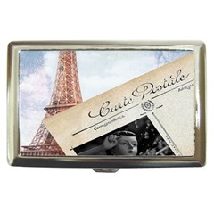 French Postcard Vintage Paris Eiffel Tower Cigarette Money Case by chicelegantboutique