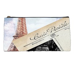 French Postcard Vintage Paris Eiffel Tower Pencil Case