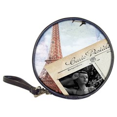 French Postcard Vintage Paris Eiffel Tower Cd Wallet by chicelegantboutique