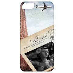 French Postcard Vintage Paris Eiffel Tower Apple Iphone 5 Classic Hardshell Case by chicelegantboutique