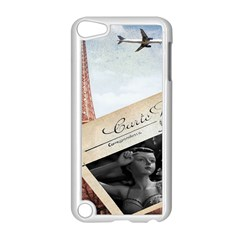 French Postcard Vintage Paris Eiffel Tower Apple Ipod Touch 5 Case (white)