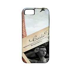 French Postcard Vintage Paris Eiffel Tower Apple Iphone 5 Classic Hardshell Case (pc+silicone)