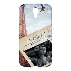 French Postcard Vintage Paris Eiffel Tower Samsung Galaxy S4 I9500/i9505 Hardshell Case